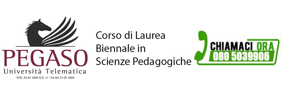 Corso di Laurea Magistrale Biennale in Scienze Pedagogiche