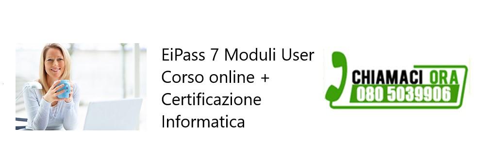 EIPASS 7 Moduli User Corso online e Certificazione