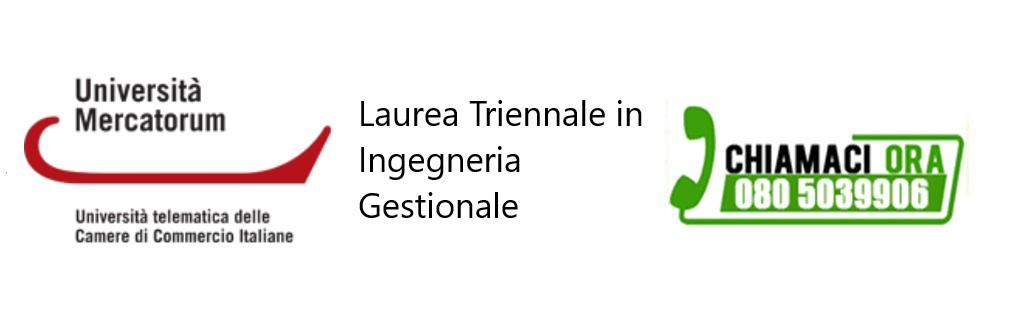 Laurea Triennale in Ingegneria Gestionale